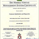 DET Norske Veritas Management System Certificate